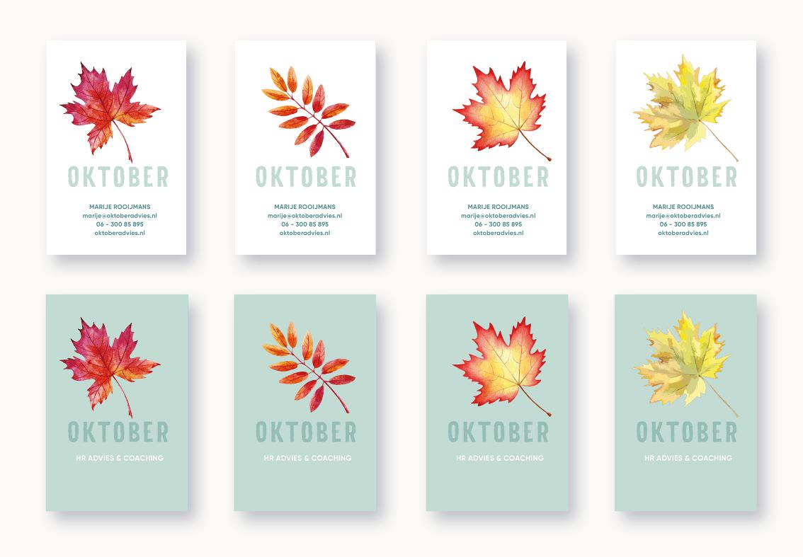 oktober-visitekaartjes