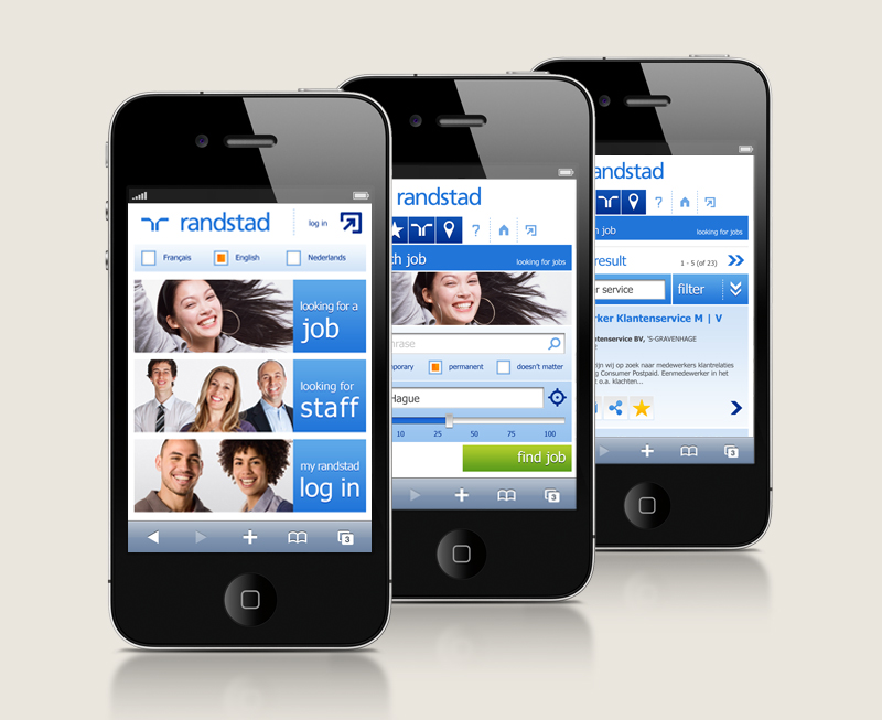 Randstad mobile site